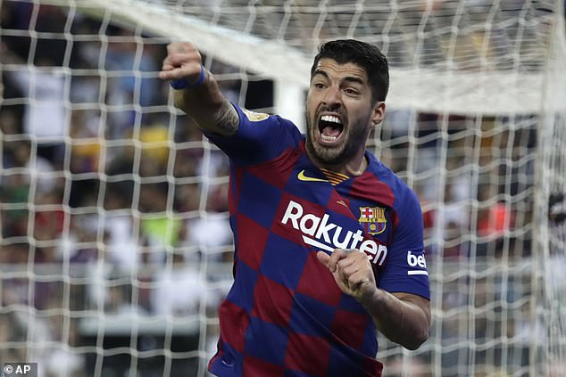 Luis Suarez will be sidelined for four months after suffering a meniscus injury in his right knee
