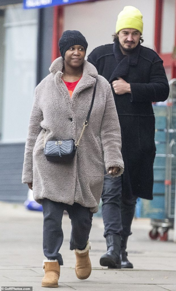 Stepping out:Motsi Mabuse was finally out of quarantine on Friday afternoon, as she made a rare public outing with her dancer husband Evgenij Voznyuk in London, ahead of her return to the judging panel