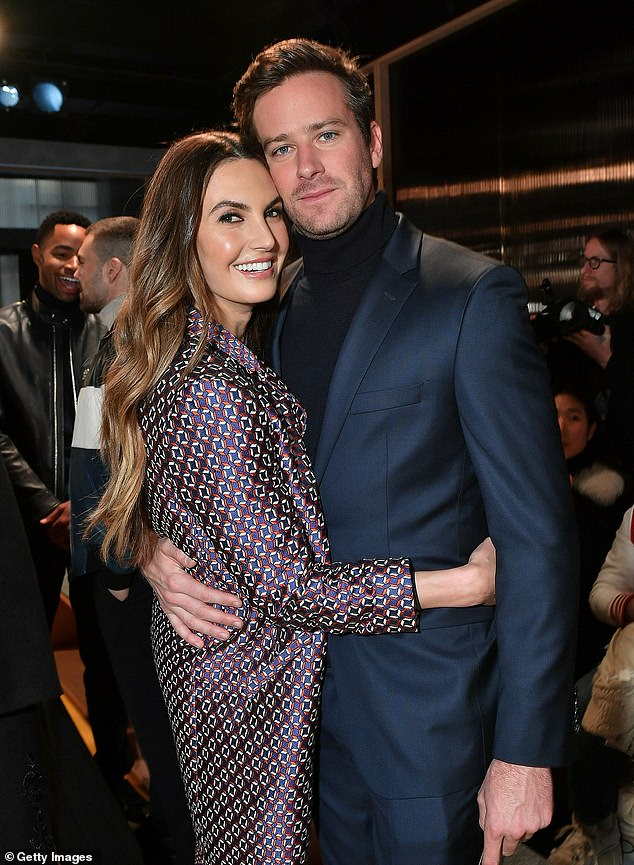 'Heartbroken': Elizabeth Chambers offered a statement in support of survivors in her first Instagram since an alleged leak of estranged husband Armie Hammer's X-rated texts about cannibalism and rape. They're seen in 2018 above