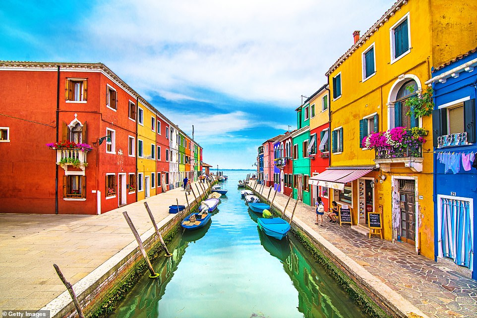 A vision: Burano is 45 minutes by boat from the centre of Venice, and in high summer it's a magnet for day-trippers