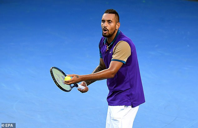 Nick Kyrgios was furious and walked off court after receiving a time penalty on his serve