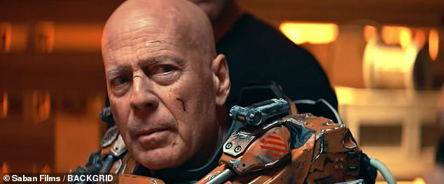 Back to the future: Bruce Willis is back doing what he does best - going into battle and heading to outer space